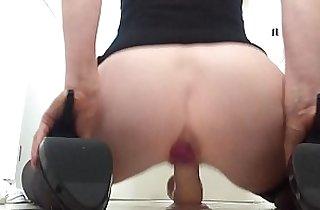 amateur sex, anal, Big butt, cream, dildoing, heels, homeporn, MILF porno