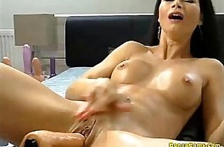 anal, ass, brunette, chating, tits, creampies, cream, dildoing