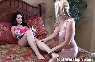 feet, fetishes, footfetish, footjob, heels, hornylesbo, sapphic erotica, toying